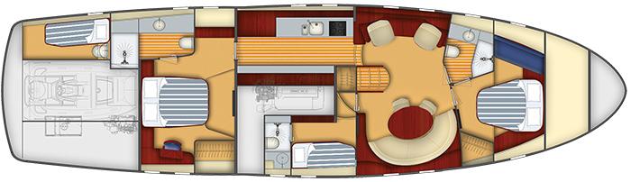 E6 Luxury Cabin on Yacht