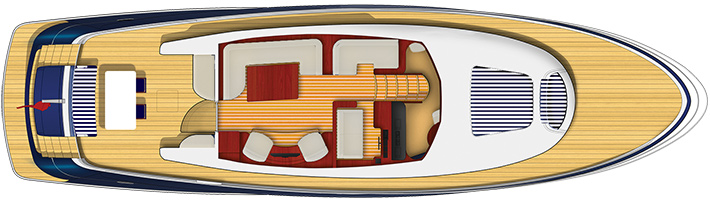 E6 Seating Layout on Yacht