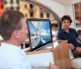 Large TV Luxury Yacht