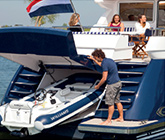Luxury Yacht with Dinghy Garage